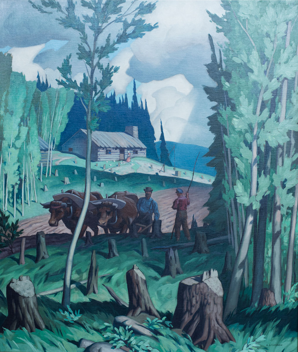 A.J. Casson A Typical Pioneer Painting