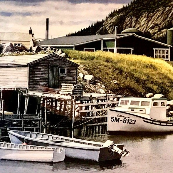 Terence Crawford Inside Quidi Vidi Gut Old St. Johns Painting