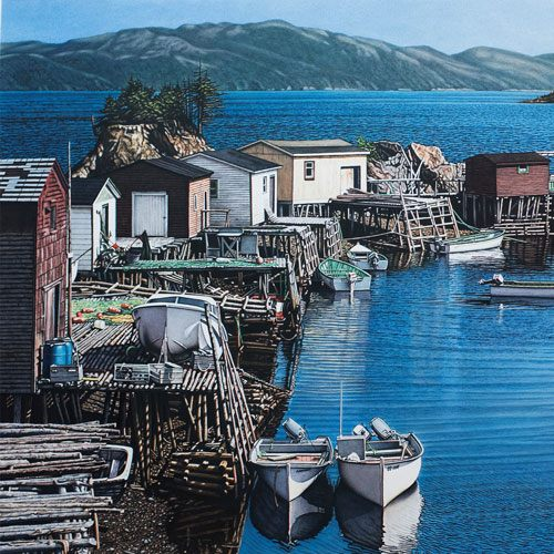 Terence Crawford Parkers Cove, Placentia Bay Painting