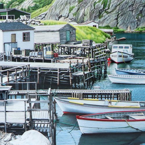 Terence Crawford Summer Time in Quidi Vidi Gut Painting