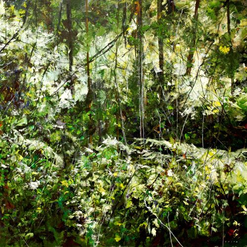 Gordon Smith The Byway Trees Painting