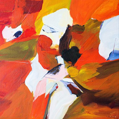 Gordon Smith Orange and Red Painting