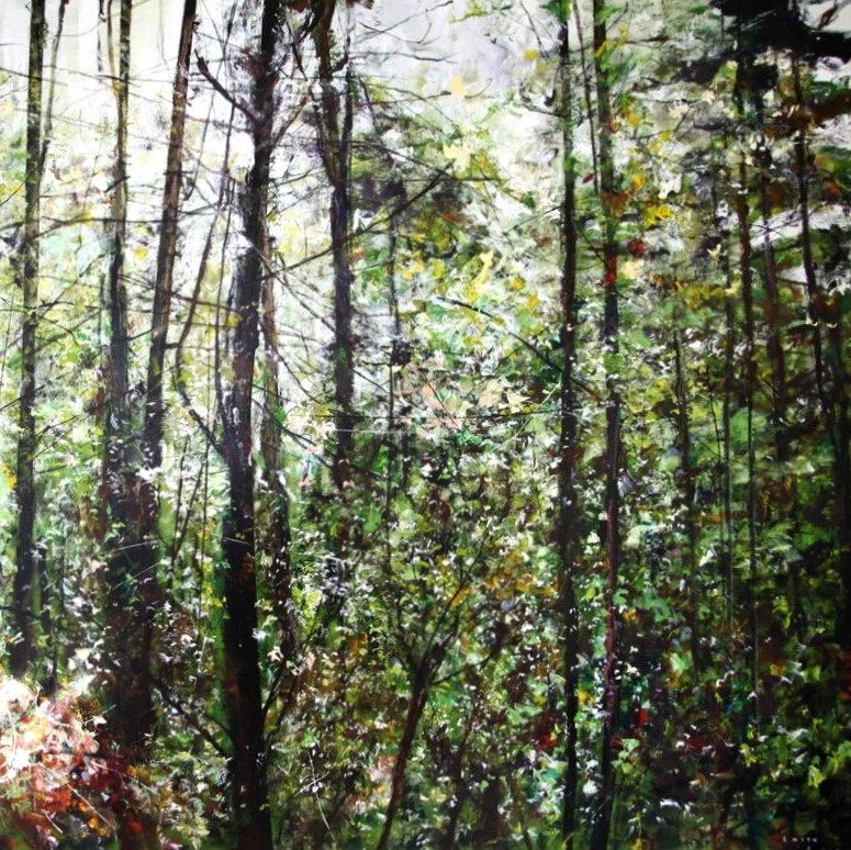 Gordon Smith Winter Woods North Shore Painting