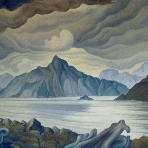 W.P. Weston Anvil Island From Britannia West Howe Sound, B.C. Painting