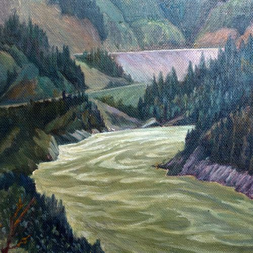 W.P. Weston Fraser Canyon Painting