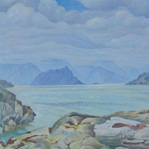 W.P. Weston Howe Sound from Copper Cove Painting