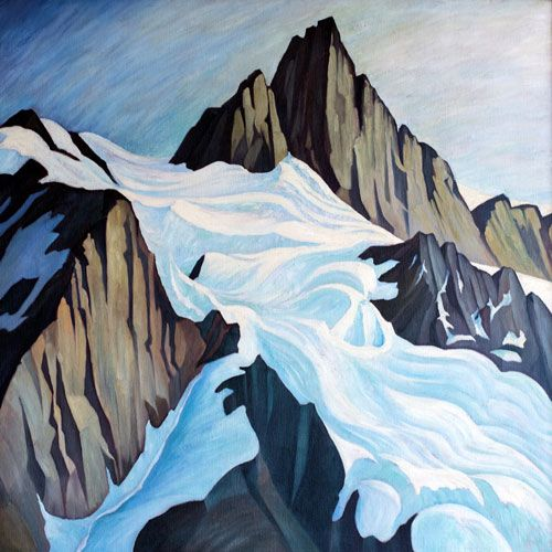 W.P. Weston The Far Place, Mt. Shuksan Painting